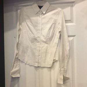 Fenity Studio size 4 white button down long sleeve